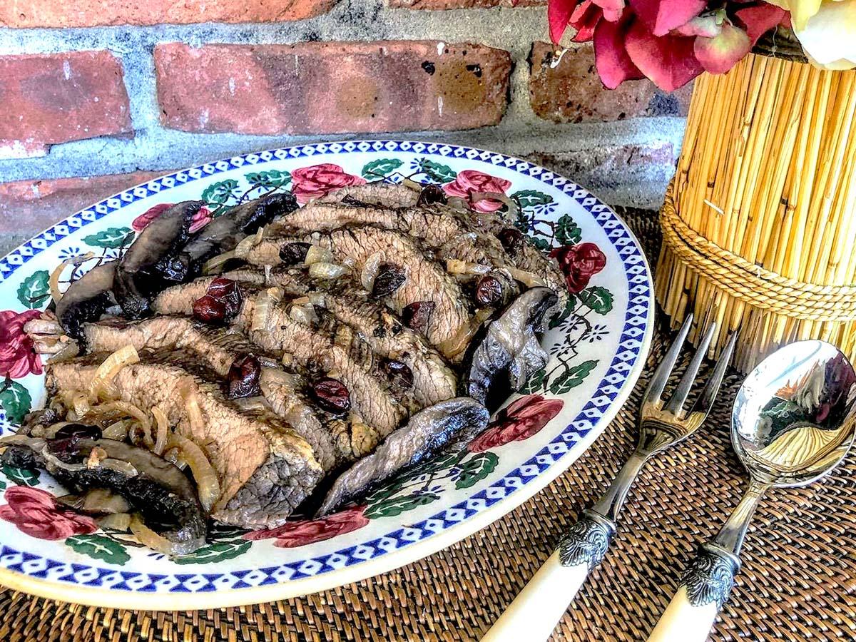 Gluten-Free Brisket-with portobello mushrooms