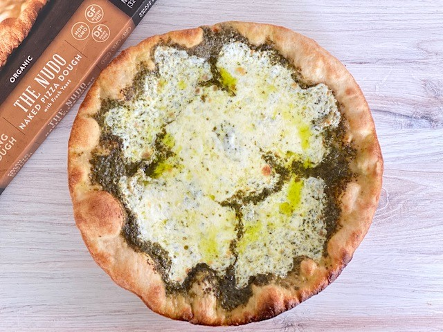 Pesto Pizza with Etalia Nudo Crust