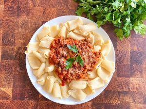 Rigatoni with Sausage Bolognese