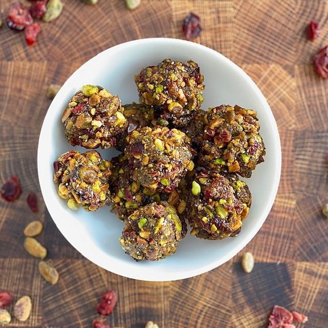 Healthy Pistachio Cranberry Bites